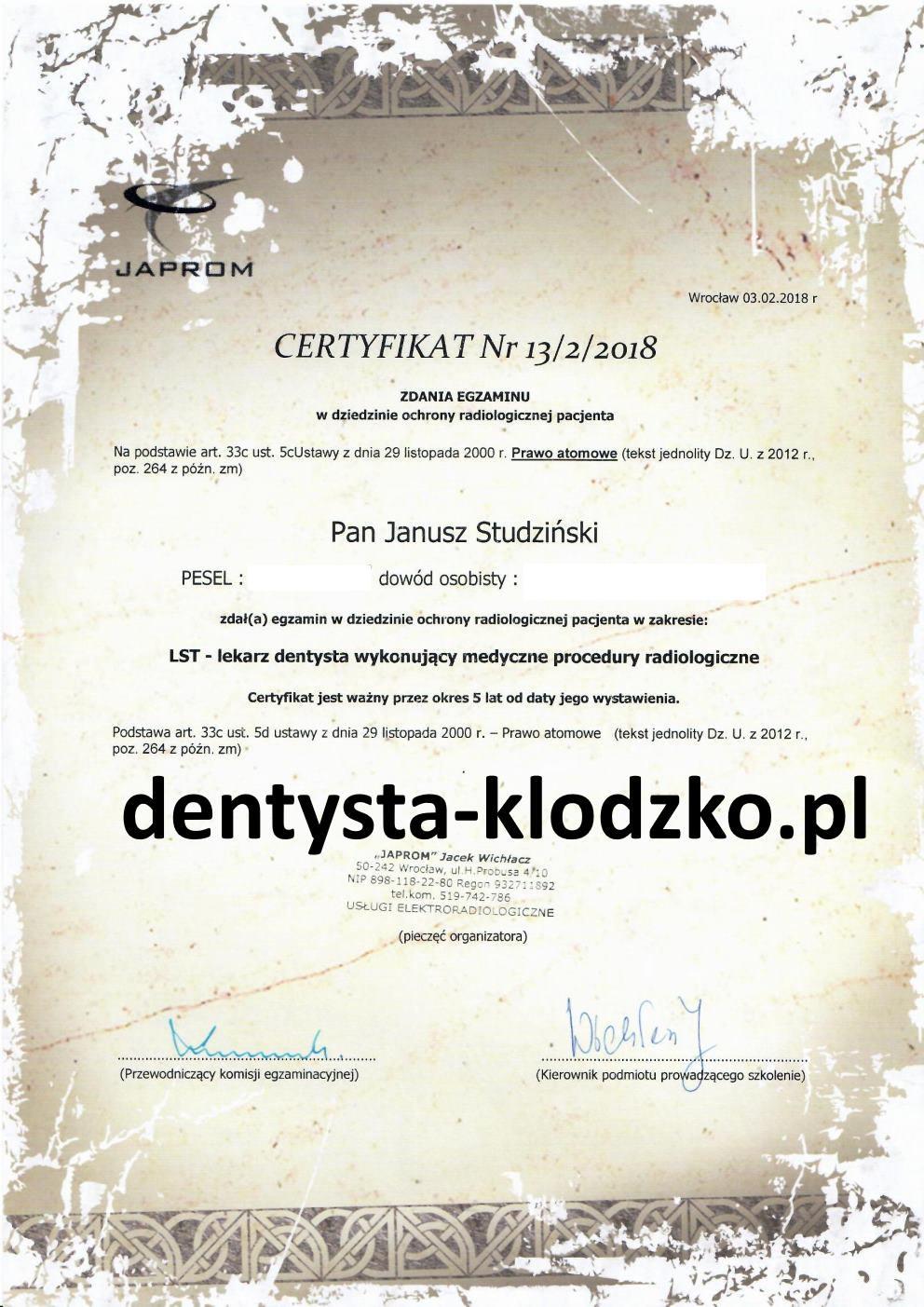 radiologia-certyfikat